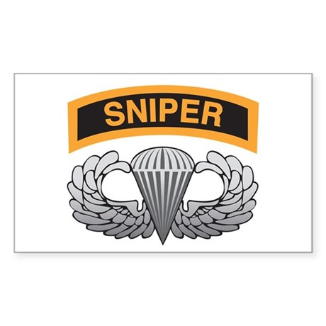 Sniper Tab with Basic Airborn Rectangle Sticker