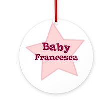 Baby Francesca Ornament (Round)