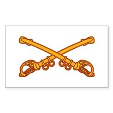 Cavalry branch Insignia Rectangle Decal