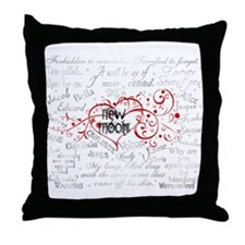 New Moon Quotes Throw Pillow