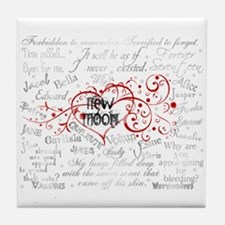New Moon Quotes Tile Coaster