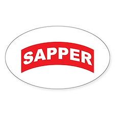 Sapper Tab Oval Decal