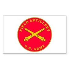 Field Artillery Plaque Rectangle Decal