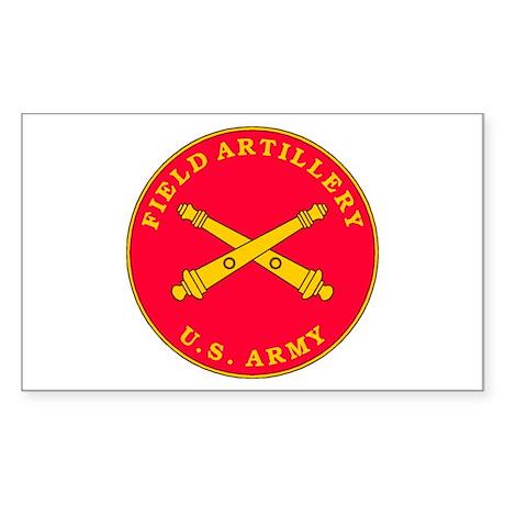 Field Artillery Plaque Rectangle Sticker