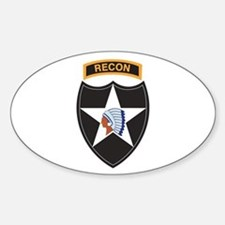 2nd Infantry Div with Recon T Oval Decal
