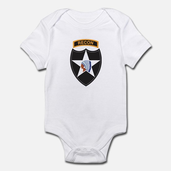 2nd Infantry Div with Recon T Infant Bodysuit