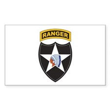 2nd Infantry Div with Ranger Rectangle Decal