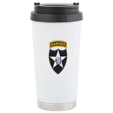 2nd Infantry Div with Ranger Stainless Steel Trave