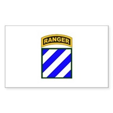 3rd Infantry Div Ranger Tab Rectangle Decal