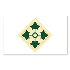 4th Infantry Division Rectangle Decal
