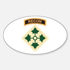 4th Infantry Div with Recon T Oval Decal