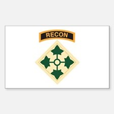 4th Infantry Div with Recon T Rectangle Decal