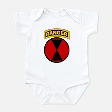 7th Infantry Div with Ranger Infant Bodysuit