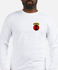 7th Infantry Div with Ranger Long Sleeve T-Shirt