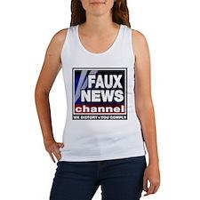 Faux News - On a Women's Tank Top