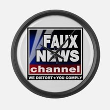 Faux News - On a Large Wall Clock