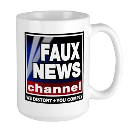 Faux News - On a Large Mug