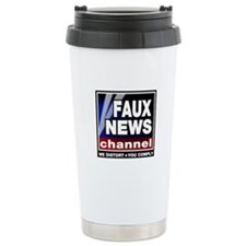 Faux News - On a Travel Coffee Mug