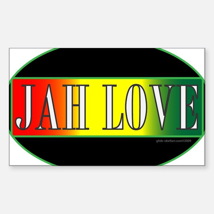 JAH LOVE 3 Rectangle Decal