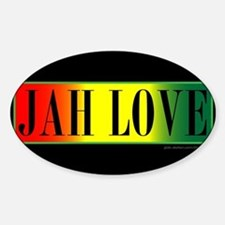 JAH LOVE 3A Oval Decal