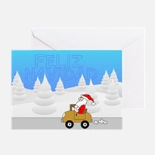 Santa Mobile - spanish Greeting Card