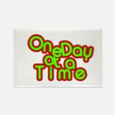 Cute One day at a time Rectangle Magnet