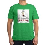 I'LL DO ANYTHING FOR PIZZA Men's Fitted T-Shirt (d