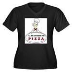 I'LL DO ANYTHING FOR PIZZA Women's Plus Size V-Nec