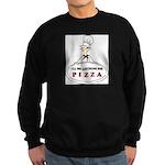 I'LL DO ANYTHING FOR PIZZA Sweatshirt (dark)