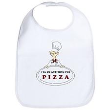 I'LL DO ANYTHING FOR PIZZA Bib