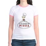 I'LL DO ANYTHING FOR PIZZA Jr. Ringer T-Shirt
