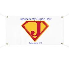 Jesus is My Super Hero Banner