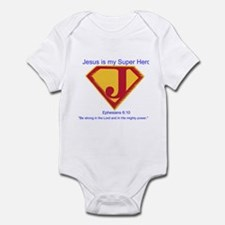 Jesus is My Super Hero Infant Bodysuit