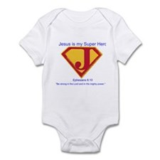 Jesus is My Super Hero Onesie