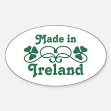 Made In Ireland Oval Decal