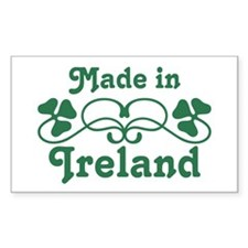 Made In Ireland Rectangle Decal