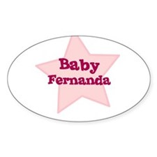 Baby Fernanda Oval Decal