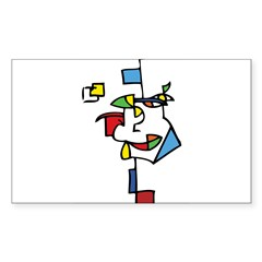 Cubist Face Decal
