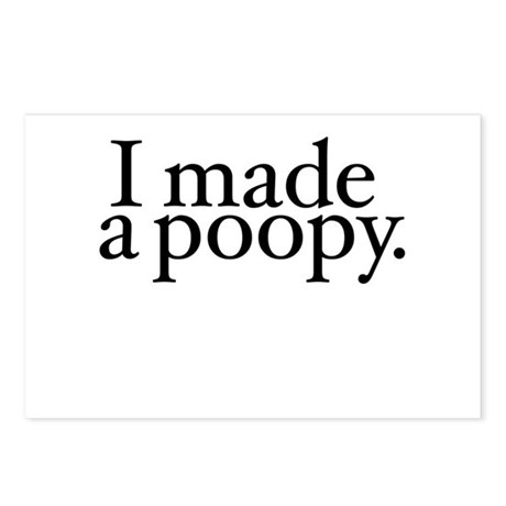 I made a poopy Postcards (Package of 8)