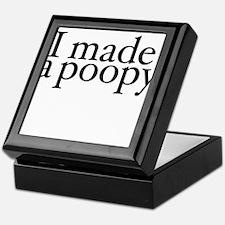I made a poopy Keepsake Box