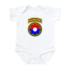 9th Infantry Div with Ranger Infant Bodysuit
