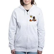 Autumn Cairn Terrier Zip Hoodie
