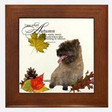 Autumn Cairn Terrier Framed Tile