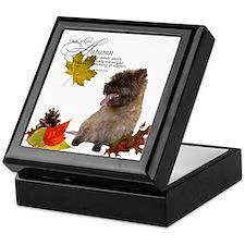 Autumn Cairn Terrier Keepsake Box