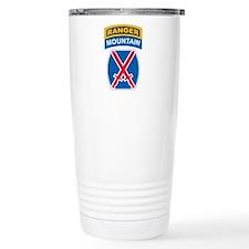 10th Mountain Div with Ranger Travel Mug