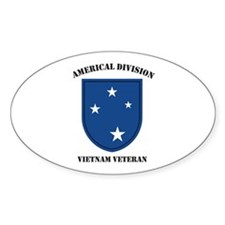 Americal Division Vietnam Vet Oval Decal