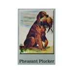 Pheasant Plucker Rectangle Magnet