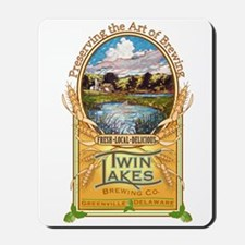 Twin Lakes Brewing Company logo Mousepad