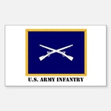 Infantry Flag Rectangle Decal