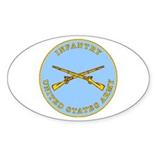 Infantry Plaque Oval Decal